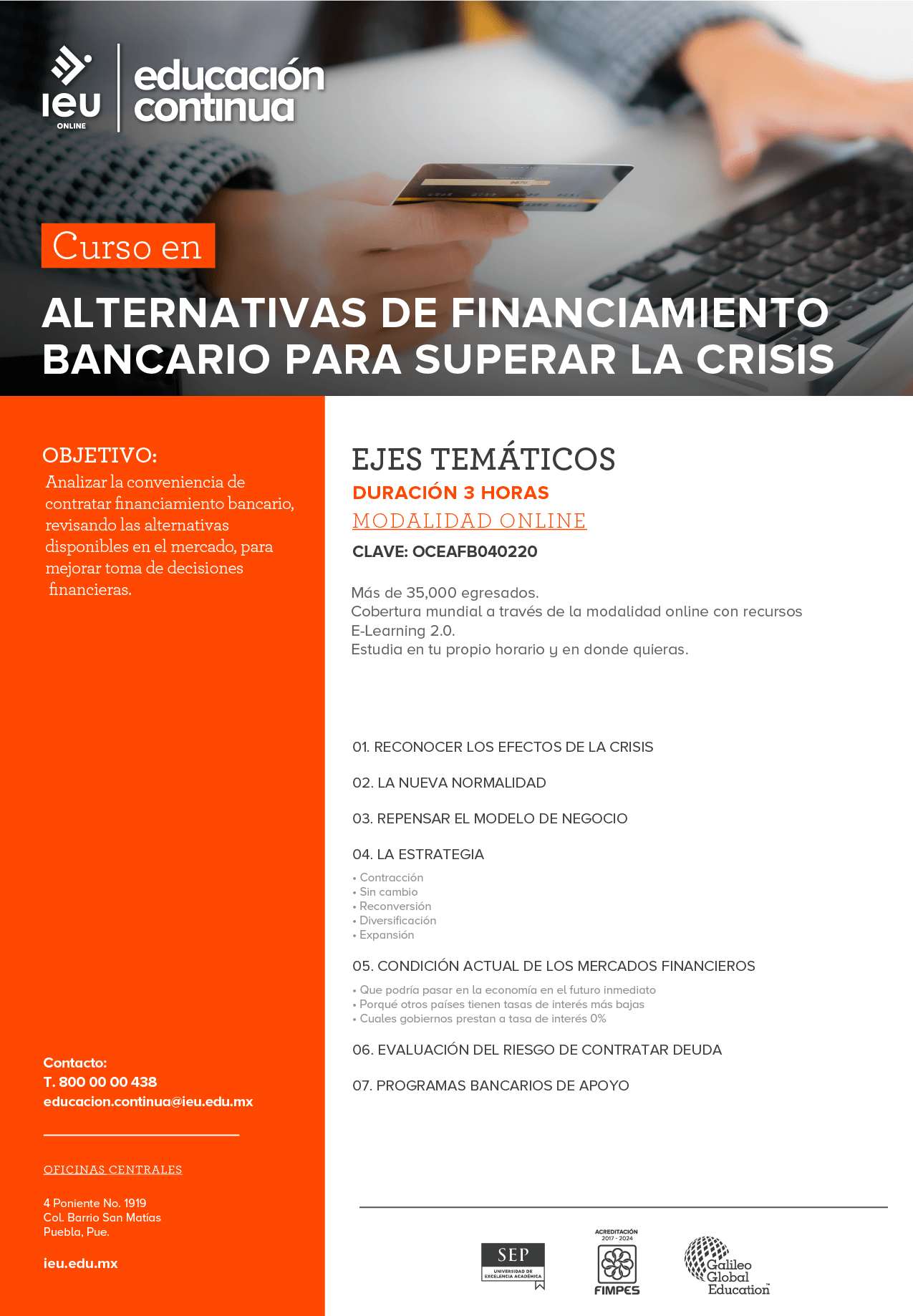 Alternativas de financiamiento bancario para superar la crisis