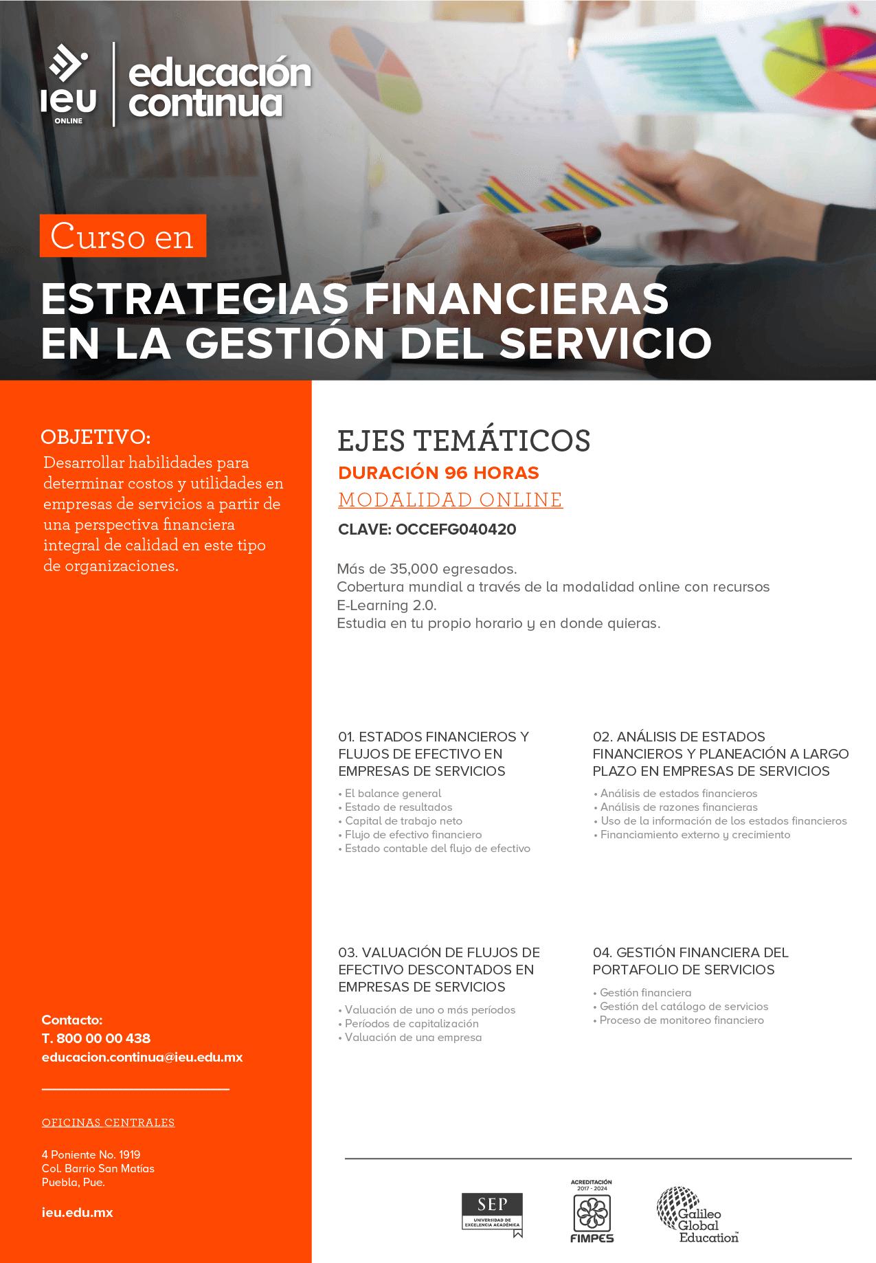 Estrategias financieras en la gestión del servicio
