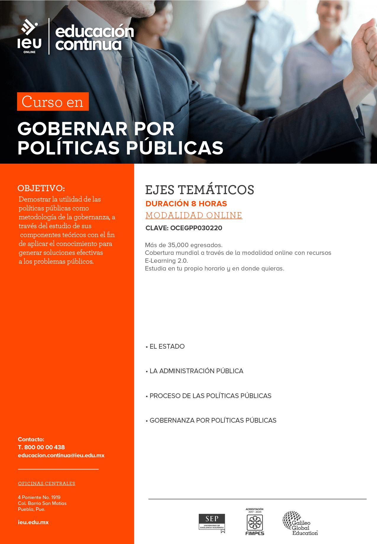 Gobernar por políticas públicas