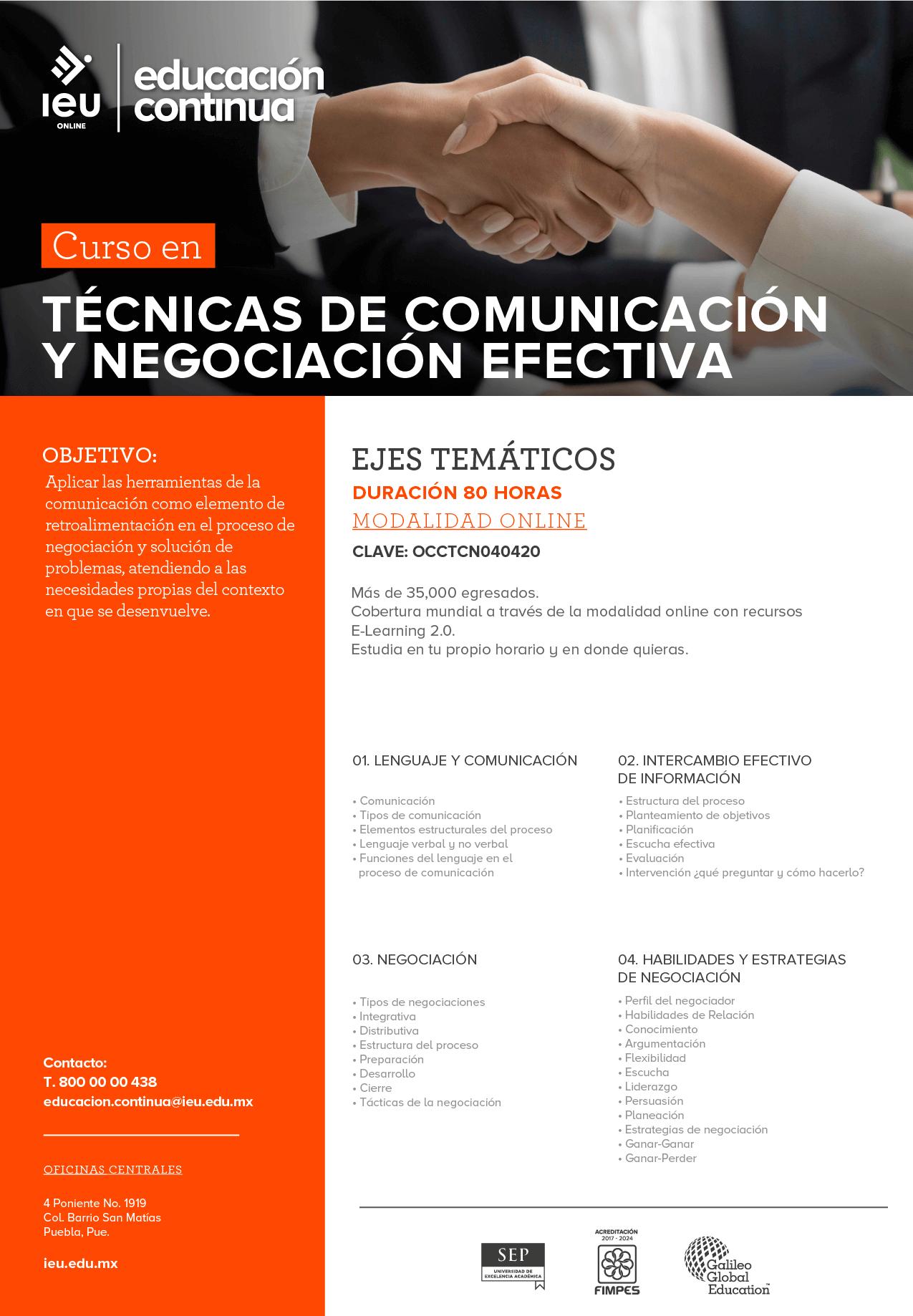 Técnicas de comunicación y negociación efectiva